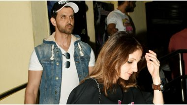 Hrithik Roshan and Ex Sussanne Khan Spotted Together Post a Movie Outing (View Pics)