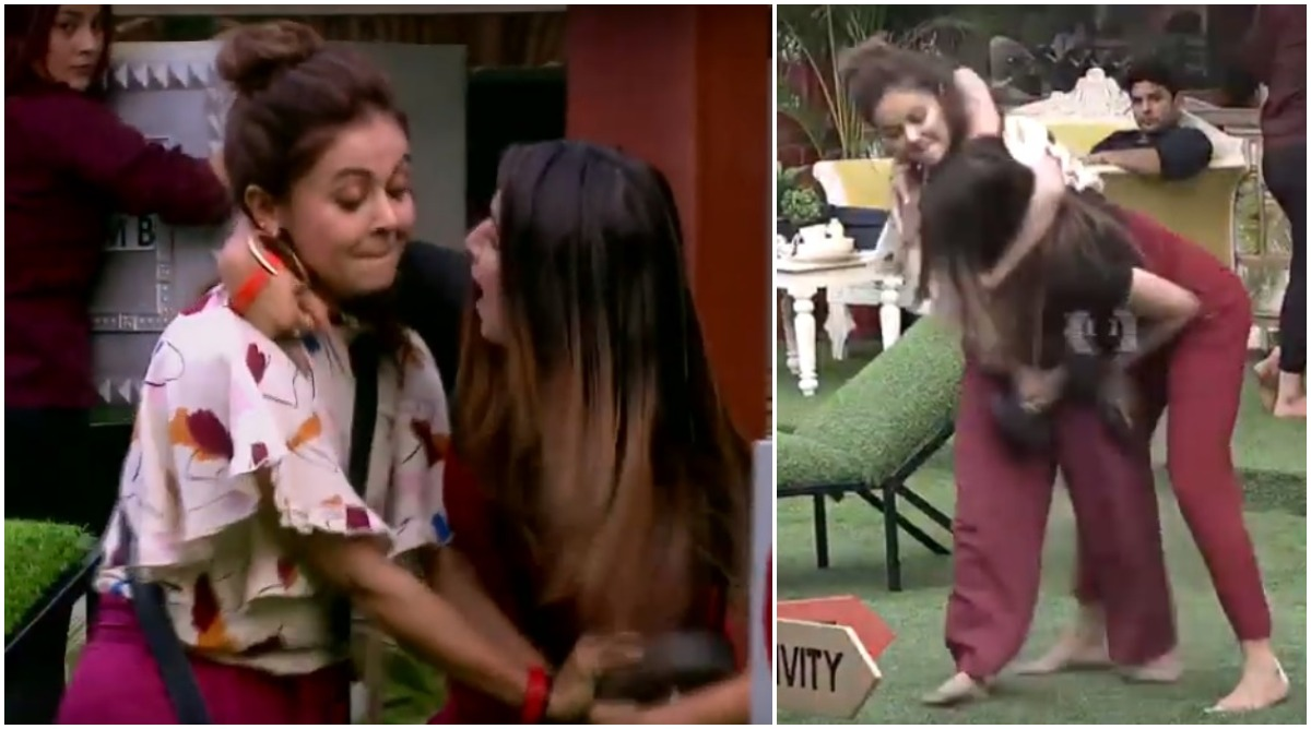 Bigg Boss 13 Preview: Catfight Intensifies as Devoleena Bhattacharjee Holds Shefali Bagga by the Neck (Watch Video)