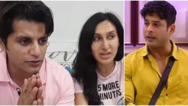 Bigg Boss 13: Karanvir Bohra and Wife Teejay Are Disgusted at Siddharth Shukla's Lack of Manners (Watch Video)