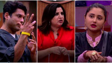 Bigg Boss 13: Did Rashami Desai's Tantrum Made Guest Farah Khan Leave the Task Midway? (Watch Video)