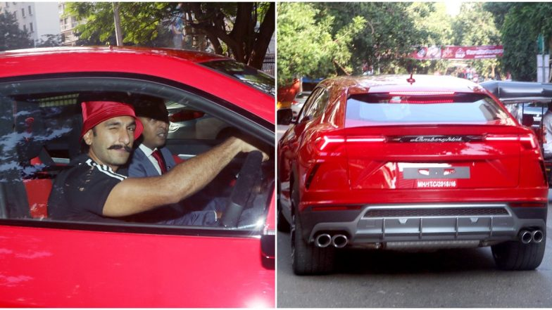 Ranveer Singh Gifts Himself a Lamborghini Urus that Approximately Costs Rs 3 Crore!
