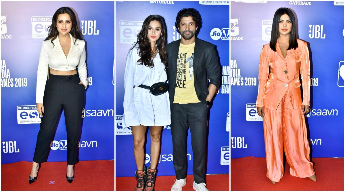 Priyanka Chopra, Parineeti Chopra Join Farhan Akhtar and Shibani Dandekar at NBA India Games 2019 (View Pics)