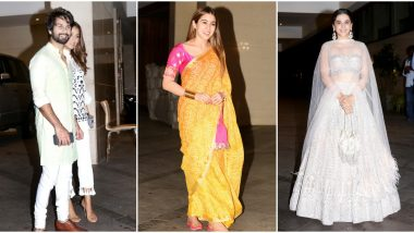 Sara Ali Khan, Shahid Kapoor, Taapsee Pannu Attend Jacky Bhagnani's Starry Diwali Party - View Pics