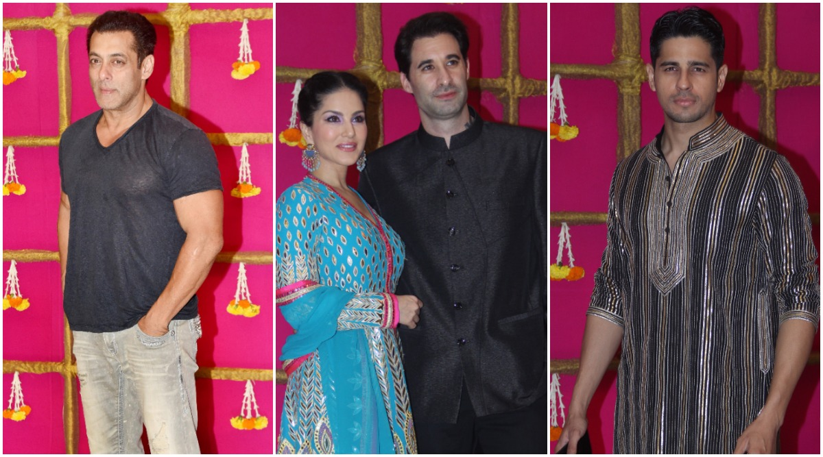 Salman Khan, Sidharth Malhotra, Sunny Leone and others Deck Up for T-Series Head, Bhushan Kumar's Diwali Party (View Pics)