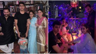 Kareena Kapoor Khan Poses for a Perfect Family Portrait with Taimur, Sara, Ibrahim and Saif (View Pics)