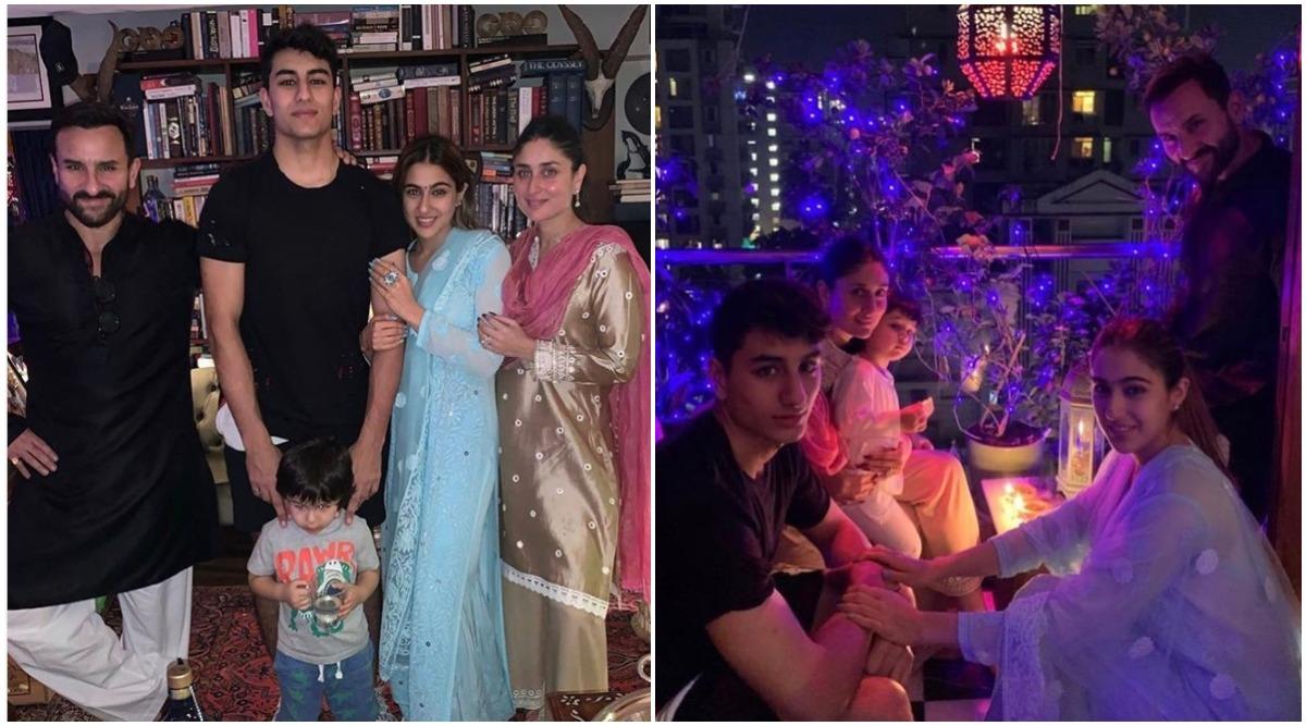Kareena Kapoor Khan Poses for a Perfect Family Portrait with Taimur, Sara, Ibrahim and Saif (View Pics)