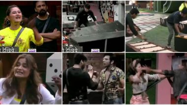 Bigg Boss 13 Day 24 Preview: Sidharth Shukla, Paras Chhabra and Rashami Desai Fight, Devoleena Bhattacharjee and Shehnaaz Gill Get Physical (Watch Video)