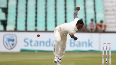 Kagiso Rabada Gets Early Breakthrough for South Africa, Removes Mayank Agarwal and Cheteshwar Pujara During IND vs SA, 3rd Test 2019 Day 1