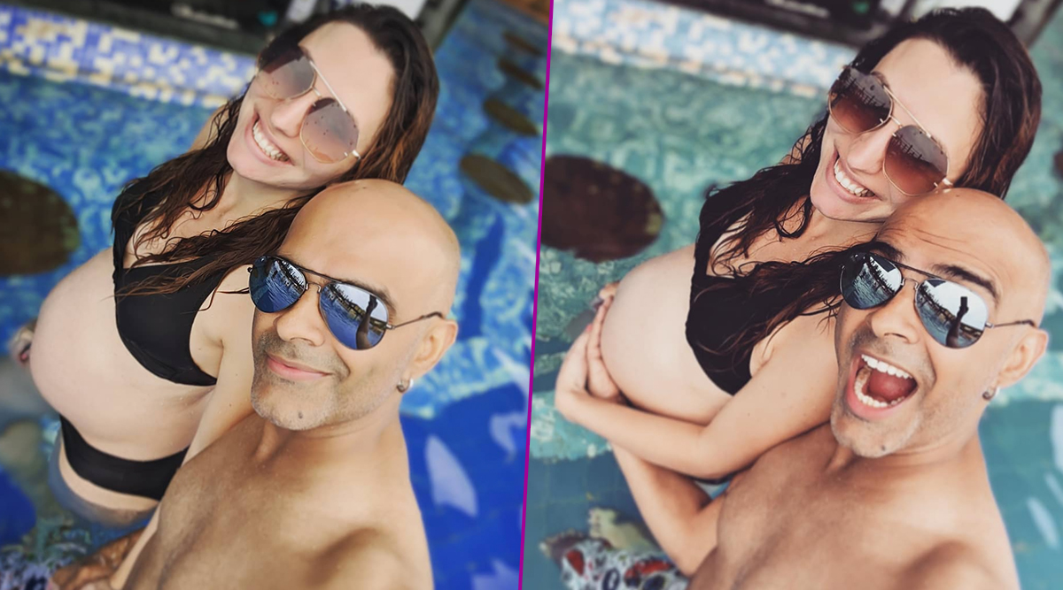 Raghu Ram's Wife Natalie Di Luccio Flaunts Her Baby Bump as She Poses in Pool in Hot Black Bikini (View Babymoon Pics)
