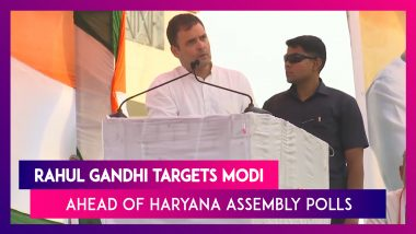 Rahul Gandhi Calls Narendra Modi Loudspeaker Of Adani, Ambani, Ahead Of Haryana Assembly Polls