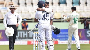 India vs South Africa, 1st Test 2019, Day 2 Stat Highlights: Mayank Agarwal Shatters Records, Bowlers Put Up a Good Show