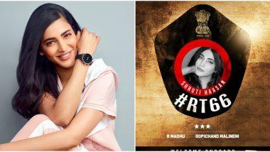 RT 66: Shruti Haasan Roped in to Play Ravi Teja's Leading Lady in Upcoming Telugu Film