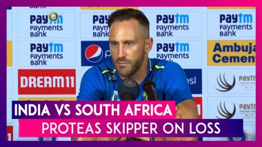 Ind vs SA: Test Series In India Is Real Character Test, Says Proteas Skipper Faf du Plessis