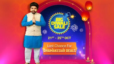 Flipkart Big Diwali Sale 2019: Dhamakedar Deals on Mobiles, TVs, Home Appliances, Electronics & Accessories Starting October 21