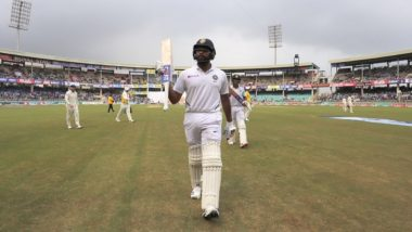 India vs South Africa Stat Highlights, 3rd Test 2019, Day 1: Rohit Sharma Hits His Third Century of Series, Ajinkya Rahane Also Shines in The Match Full of Milestones
