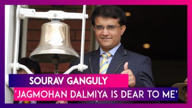 Jagmohan Dalmiya Is Very Dear To Me: Sourav Ganguly, The New BCCI Boss