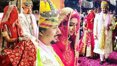 Mohena Kumari Singh and Suyesh Rawat Tie the Knot in a Royal Rajput Wedding Ceremony (View Pics)