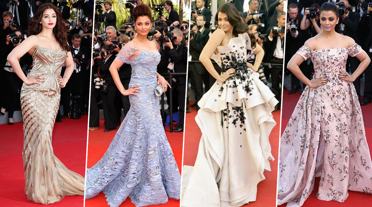 Aishwarya Rai Bachchan Birthday Special: It's Time to Revisit and Appreciate Some of her Best Sartorial Moments at the French Riviera (View Pics)
