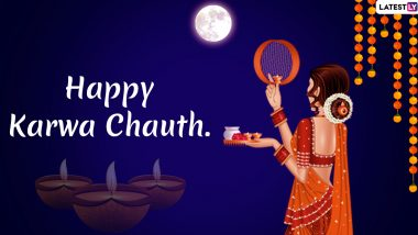 Happy Karwa Chauth 2019 Greetings: WhatsApp Stickers, Cute Romantic Messages, GIF Images and SMS to Dedicate to Your Significant Other on the Special Night
