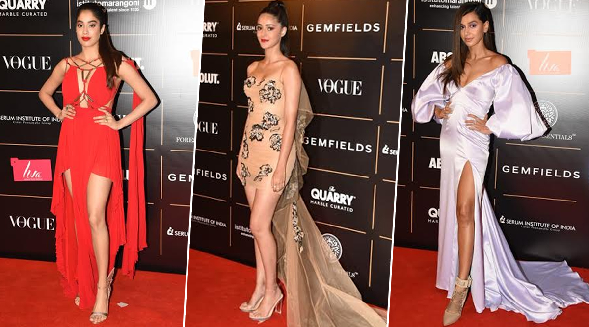 Vogue Women Of The Year Awards 2019 Red Carpet: Janhvi Kapoor, Ananya Panday, Shibani Dandekar and Others Make Stunning Appearances (View Pics)