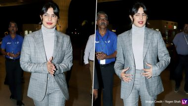 Priyanka Chopra's Gingham Inspired Look at the Airport Is Sharp As Well As Sophisticated (See Pics)
