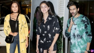 Saand Ki Aankh: Sonakshi Sinha, Ananya Panday, Kartik Aaryan and Others Attend Taapsee Pannu and Bhumi Pednekar's Movie Screening (View Pics)