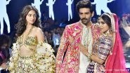 Kartik Aaryan, Ananya Panday and Bhumi Pednekar Sashay the Runway for Abu Jani-Sandeep Khosla's New Bridal Collection (View Pics)