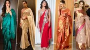 Karwa Chauth 2019: Let Deepika Padukone, Hina Khan and Priyanka Chopra Help You Pick the Right Saree this Festive Season (View Pics)