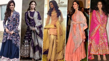 Karwa Chauth 2019: This Festive Season Ditch the Usual Red Outfits and Pick a Refreshing Colour Palette Approved by Disha Patani and Jennifer Winget