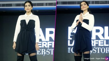 Yo or Hell No? Sonam Kapoor in a Shirt Dress Paired With Knee-Length Boots by Karl Lagerfeld