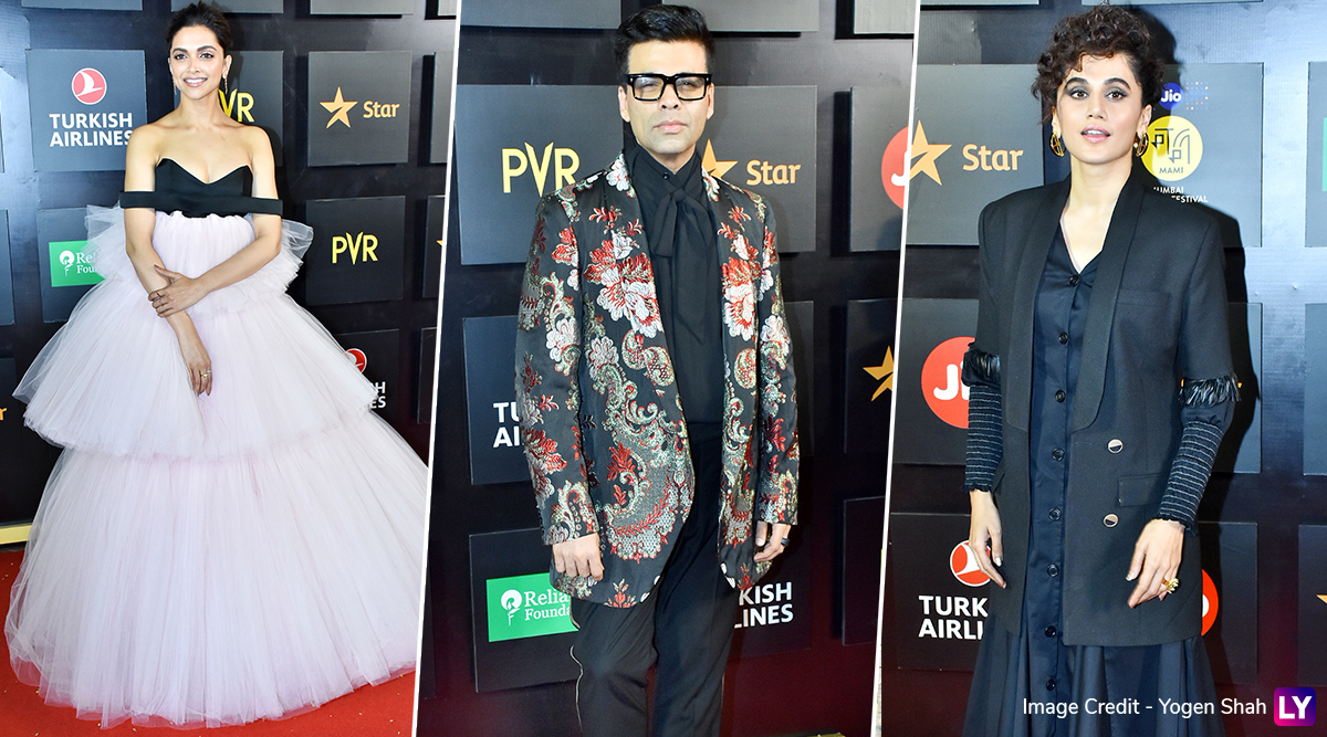 Jio MAMI Film Festival 2019: Deepika Padukone, Karan Johar, Taapsee Pannu and Others Look Glam on the Red Carpet of the Opening Night! (View Pics)