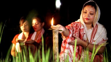 Kati Bihu 2020: Locals in Bongaigaon Celebrate The Festival by Lighting Up Their Homes and Agricultural Fields in Assam