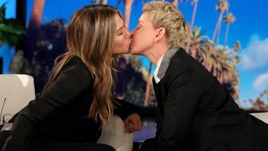 Jennifer Aniston and Ellen DeGeneres Share a Kiss on the Latter's Show, Say Fans Have Been Waiting to See That for Years (See Picture)