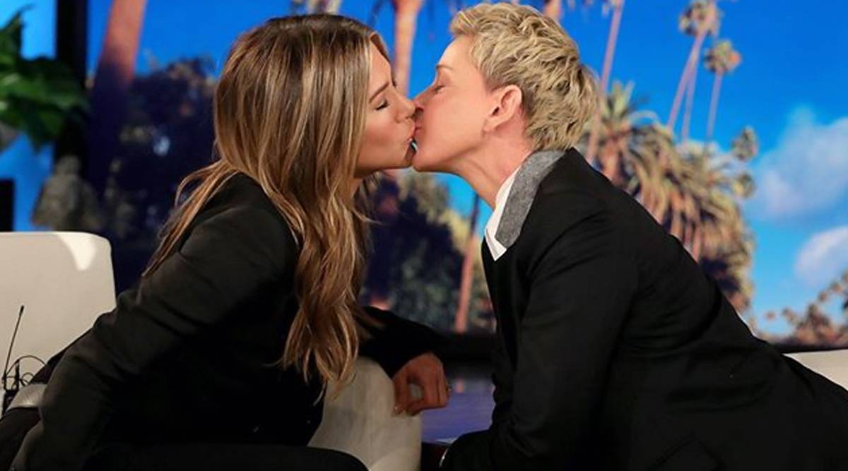 Jennifer Aniston and Ellen DeGeneres Share a Kiss on the Latter's Show, Say Fans Have Been Waiting to See That for Years(See Picture)