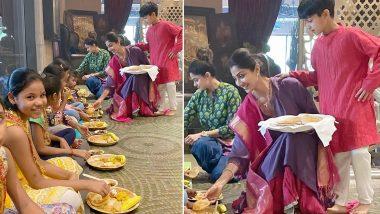 Kanjak Puja 2019: Shilpa Shetty Celebrates Kanya Poojan on Durga Ashtami With Son Vihaan and Cute Little Girls (View Pics)