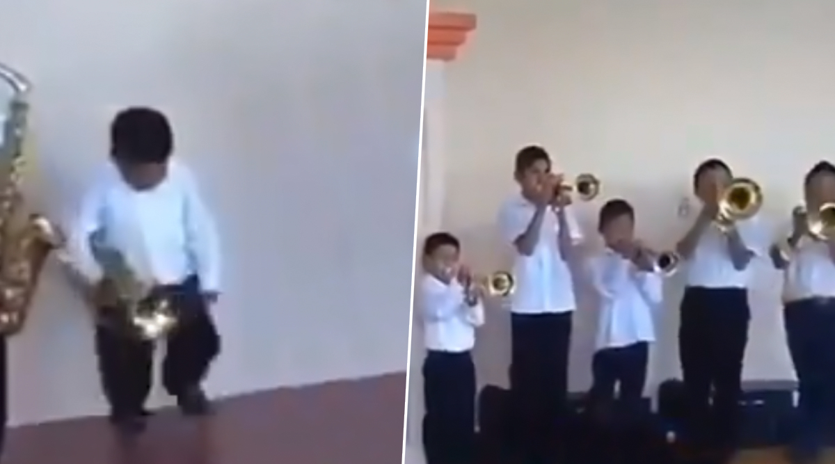 Cute Little Boy Teaches the Difference Between 'Doing' and 'Loving' Your Job! Watch His Cool Moves While Playing Trumpet in This Adorable Video