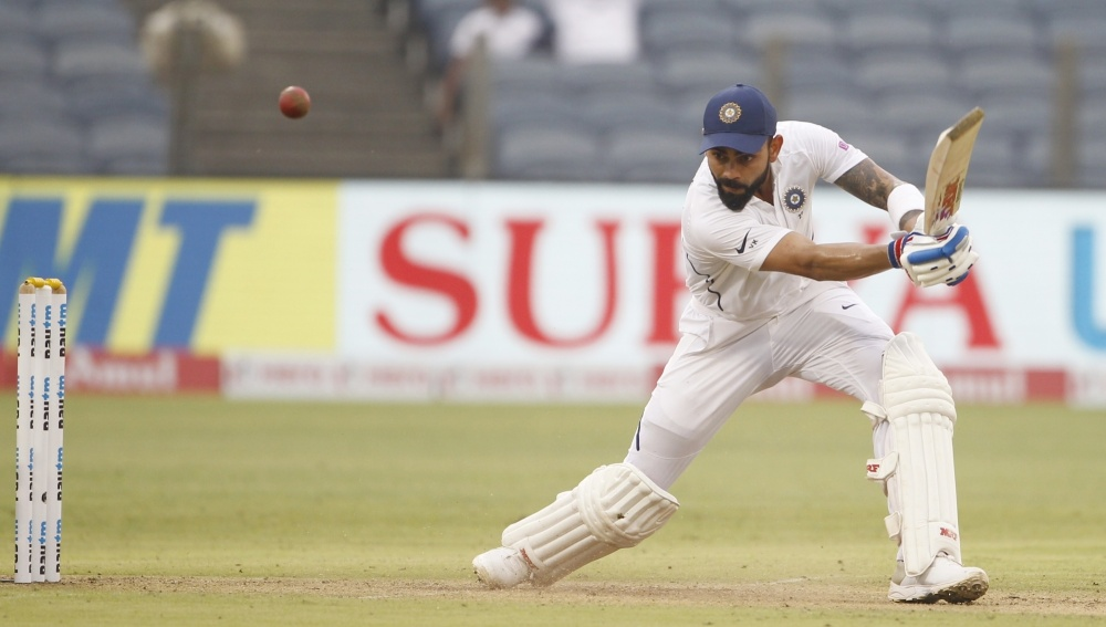 IND vs BAN Day-Night Test 2019: Virat Kohli Musters His 27th Test Century As India Extend Lead To 183 Runs at Lunch on Day 2