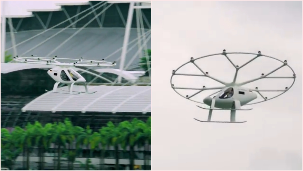 Volocopter, World's First Flying Taxi Successfully Completes Its Manned Flight Over Singapore's Marina Bay, Set to Grace the Sky by 2025 (Watch Video)