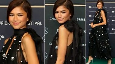 Yo or Hell No? Zendaya in a Black Tommy Hilfiger Dress for the Premiere of 'Le Mans '66' at the 15th Annual Zürich Film Festival