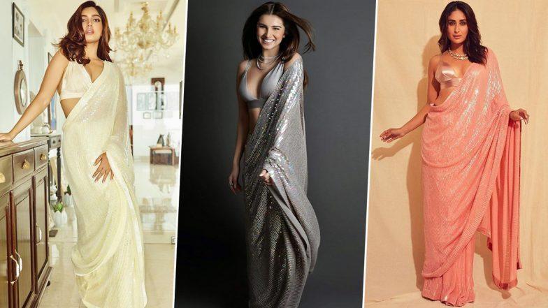 Kareena Kapoor Khan, Tara Sutaria or Bhumi Pednekar - Who Nailed this Manish Malhotra Sequined Saree Better? Vote Now