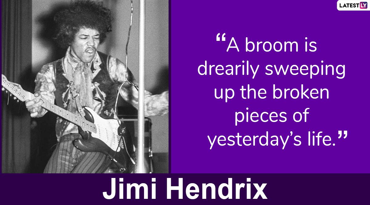 Jimi Hendrix quotes on life.