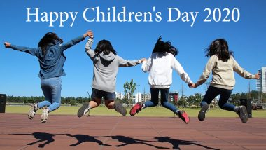 Happy Children's Day 2020 Messages, Wishes & HD Images: WhatsApp Stickers, SMS, Quotes, GIF Greetings and Photos to Wish the Adorable Kids