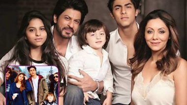 Shah Rukh Khan's Family Portrait with Aryan, Suhana, AbRam and Gauri Khan Deserves to be Framed Right Away
