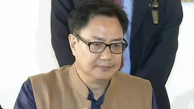 Kiren Rijiju Donates Rs 1 Crore From MPLADS Fund to Fight Against Coronavirus Outbreak