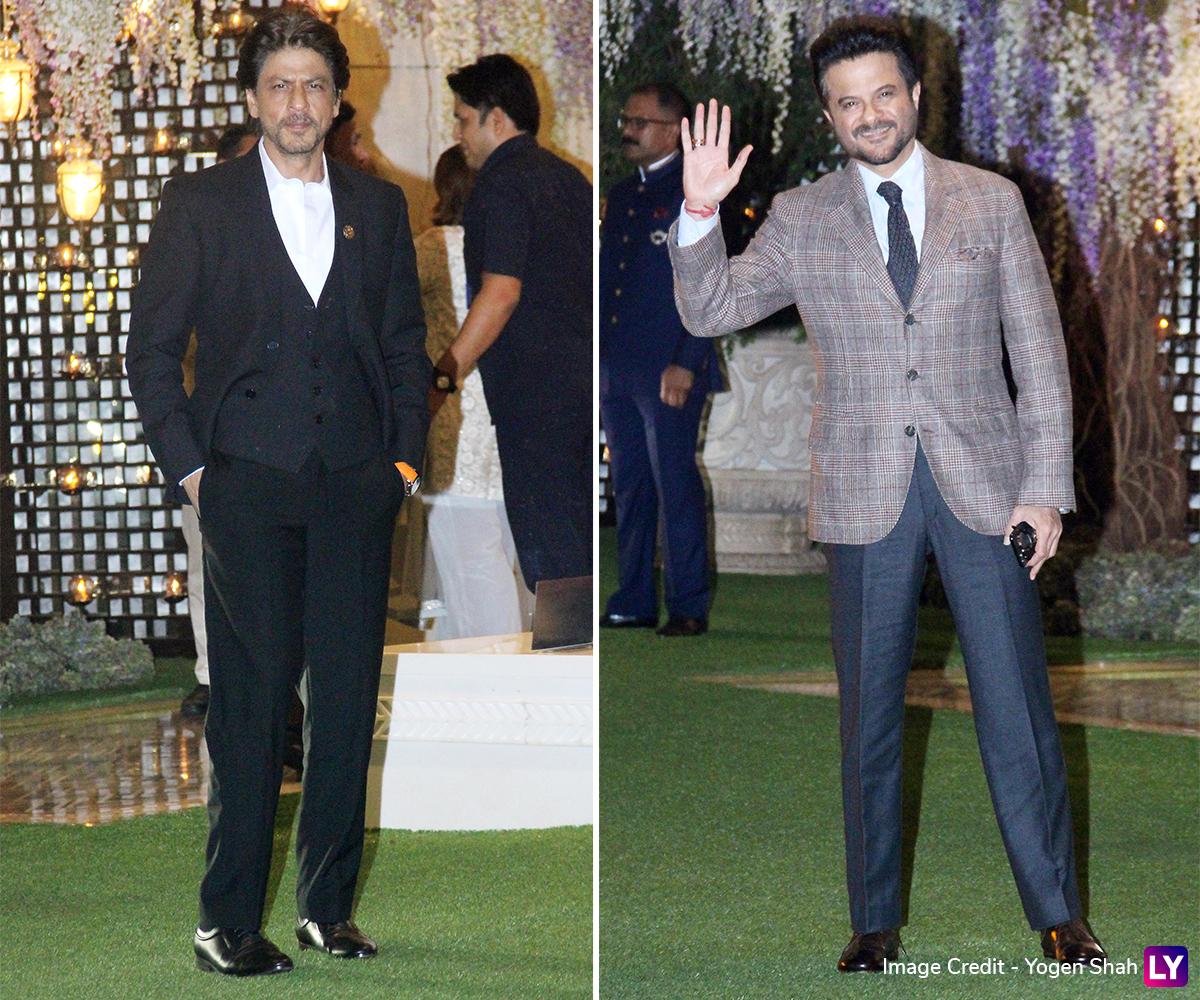 Shah Rukh Khan and Anil Kapoor at the Ambani Bash.