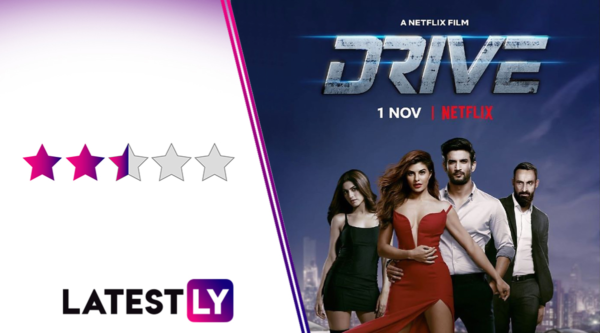 Drive Movie Review: Sushant Singh Rajput, Jacqueline Fernandez's Netflix Film Has Fun, Twisty Moments but Is Let Down by Bad VFX and Silly Plot Contrivances
