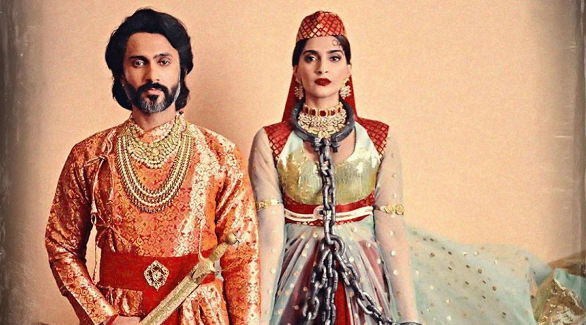Sonam Kapoor and Anand Ahuja Donned the Classic Anarkali-Salim Look from Mughal E Azam for Halloween 2019 (View Pic)