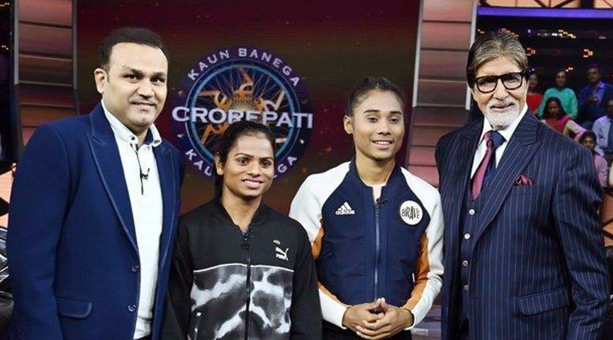 KBC 11: Amitabh Bachchan Appealed Everyone to Support Indian Athletes during Hima Das, Dutte Chand and Virender Sehwag's Special Episode