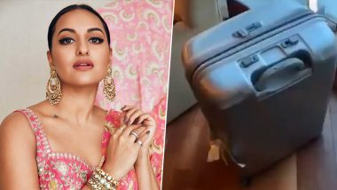 Sonakshi Sinha Slams Indigo Airlines, Shares Footage of Her Broken Luggage (Watch Video)