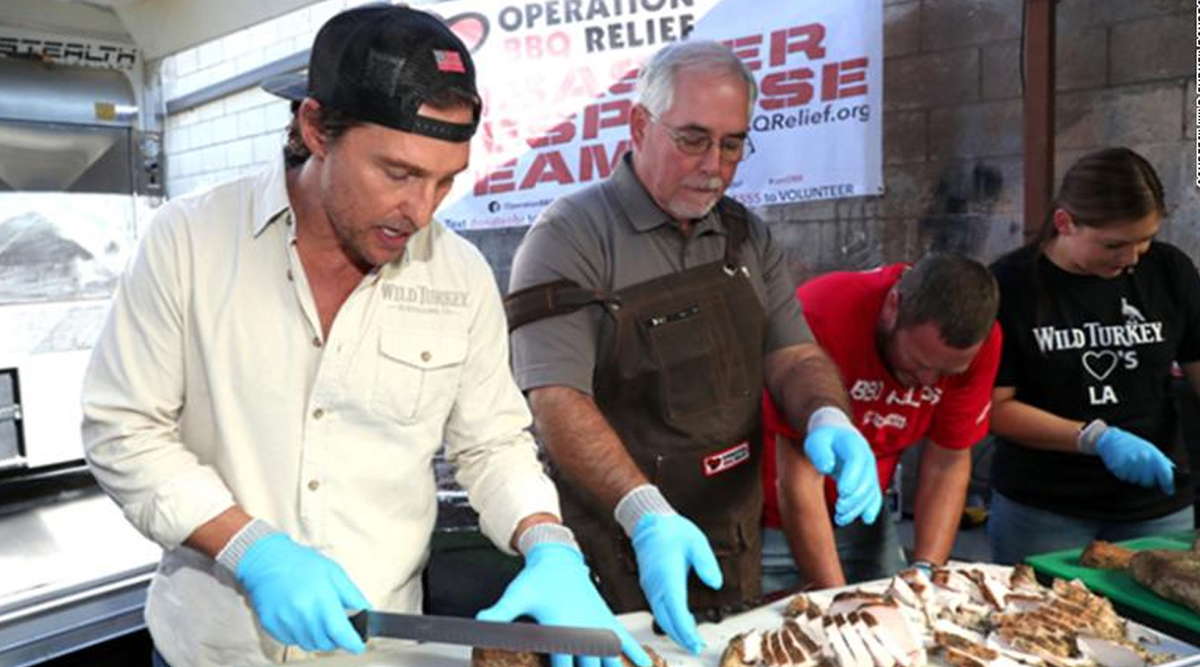Matthew McConaughey Turns Chef for California Firefighters, Oscar-Winning Star Helps Prepare Meals for the Wildfires Rescue Team